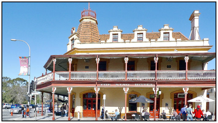 Stag Hotel in der Rundle Street, Ecke East Terrace.