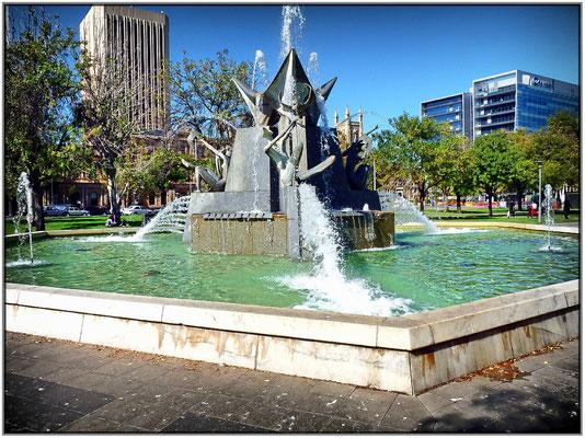 Brunnen am Victoria Square.