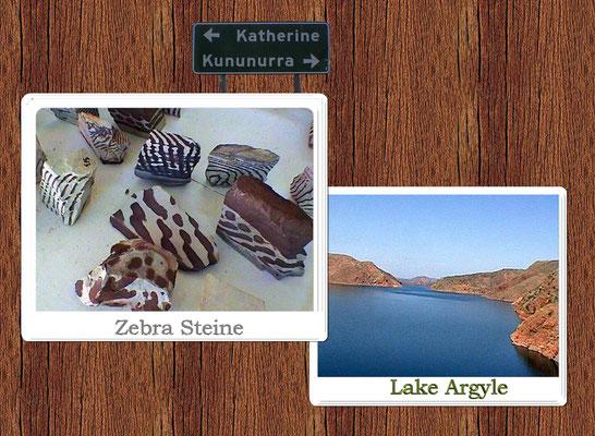 Der Lake Argyle entstand 1972 durch den Bau eines Staudamms am Fluss Ord River in der Naehe der East Kimberleys. Er ist, gemessen am Speicherraum, Australiens zweitgroesstes Suesswasser-Reservoir. Hier in diesem Gebiet wird der beruehmte und auf der Welt