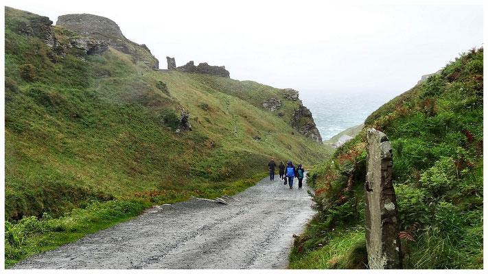 Zugangspfad zur Burg Tintagel
