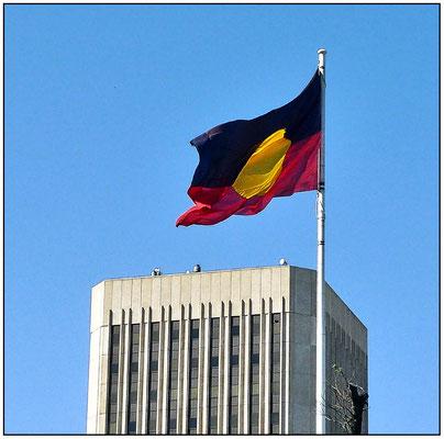 Flagge der Aborigines.