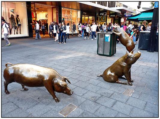 Das 1. Schwein heisst Tuffles. Das 2. heisst Horatio. Das 3. Schwein an der Abfalltonne muss ich erst noch fragen.