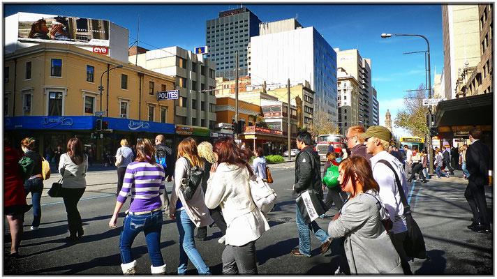 Rush hour in der King William Street.