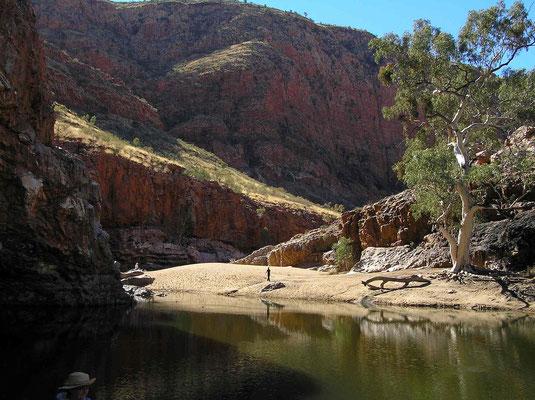 Der Ormiston Gorge ist eine vom Ormiston River geschaffene Schlucht.