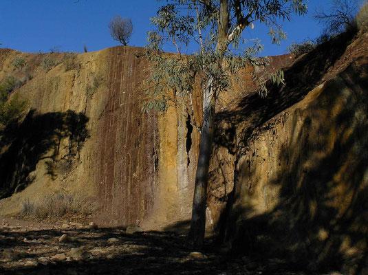 Die Ochre Pits sind eine heilige Stätte der Ureinwohner