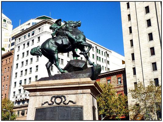 North Terrace. Kriegerdenkmal für die Gefallenen in Südafrika. South African War Memorial.