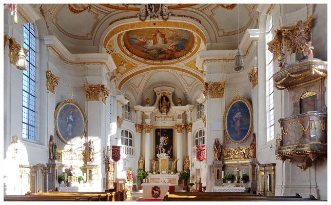 Erbaut 1785/1786 unter dem Roggenburger Abt Gilbert Scheyerle nach Plänen von Joseph Dossenberger