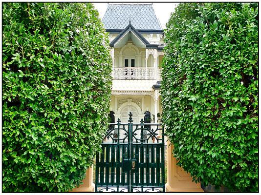 Eingang zur Villa.