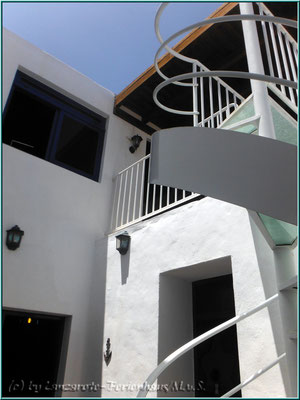 Wendeltreppe zur ersten Etage