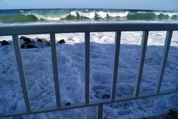 Aussicht Salon del Mar bei Flut