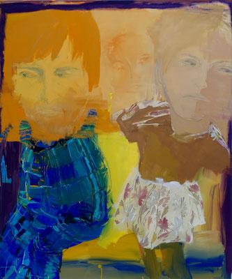 Paar 3, Gouache, 120 x 100 cm, 2017