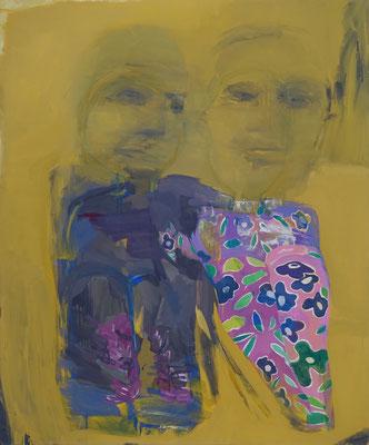 Paar 1, Gouache, 120 x 100 cm, 2016