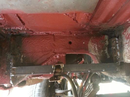 Es müssen lediglich Halterungen für die Tankbefestigung angebracht werden.