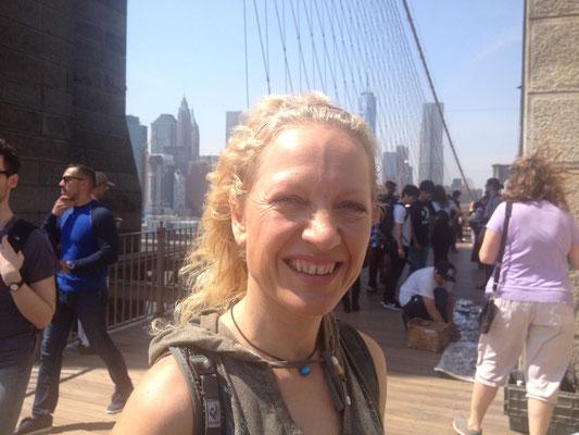 Ingrid in New York City großes Lächeln