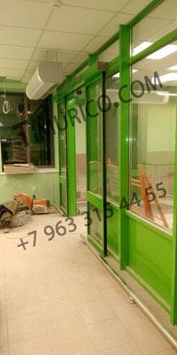 фасадное остекление, входная группа, автоматические раздвижные двери. уточнить стоимость по телефону +7 963 315 44 55
