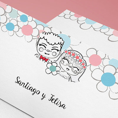 Wedding stationary The Minittus customized