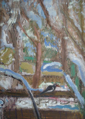 Winter. 2006. Öl auf Malpappe. 38,8 x 28,5 cm