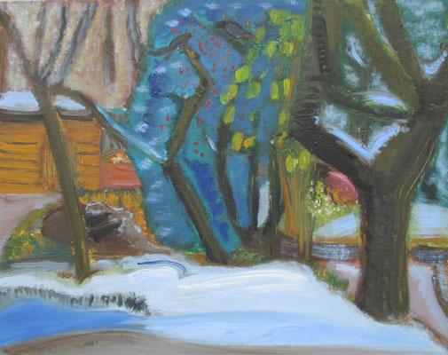 Frühlingstraum. 2016. Öl auf Sperrholz. 41 x 50,5 cm