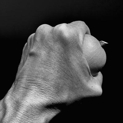Gabriele Schettler, Hand mit Kürbis #1, 2017