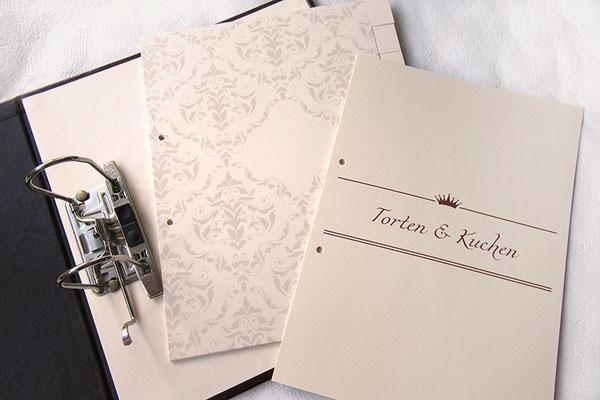 Registerblätter 24cm x 30cm für A4 Hochformat, Kartonregister 270g-Fotokarton hellchamois, 1-10 Taben, randlos  bedruckte Ordnerregister, individuell bedruckte Trennblätter