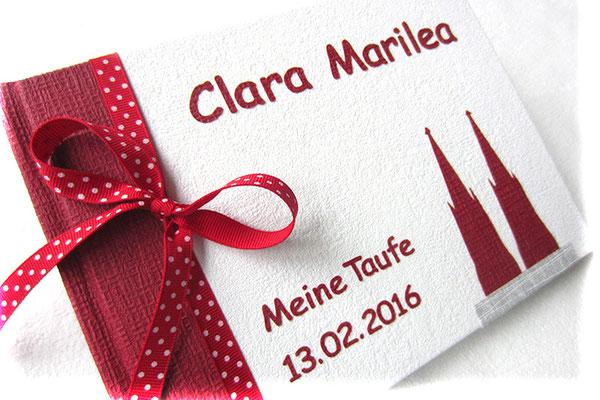 Taufbuch Beschriftung Buchstaben Applikationen Gestaltung Applikation Kölner Dom