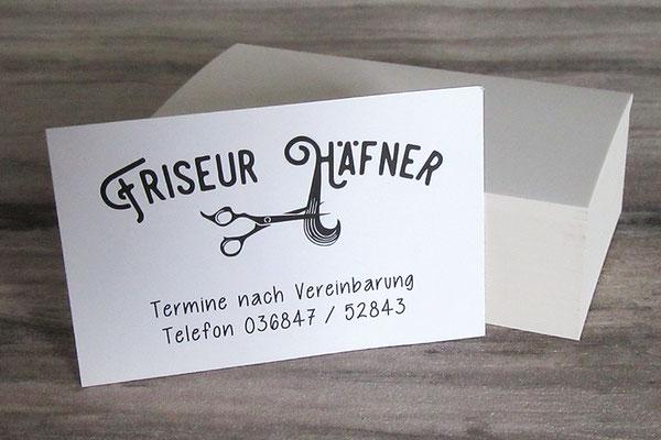 Visitenkarte Friseur, Business Card Hair Stylist - individuelle Grafiken und Kontaktdaten