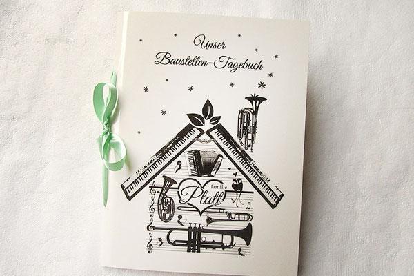 Baustellentagebuch musikalisches Haus eigene Grafik gestalten drucken binden alles aus einer Hand