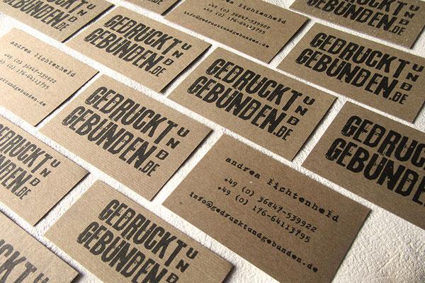 Business Card - Visitenkarte Kraftkarton