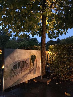Beleuchtung Baum im Garten