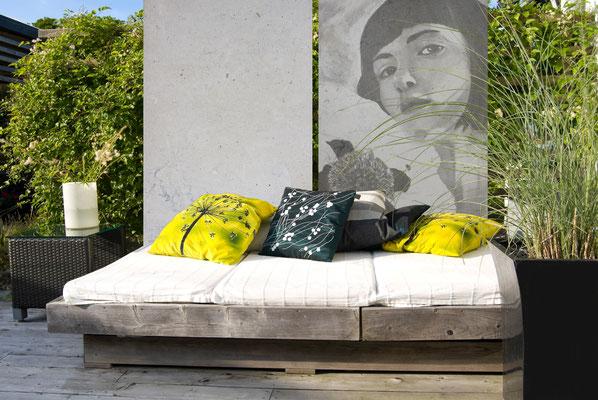 Fotobeton Kunst im Garten