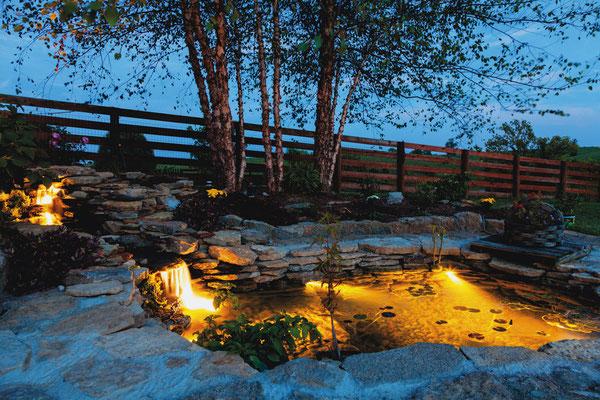 Gartenlicht am Teich