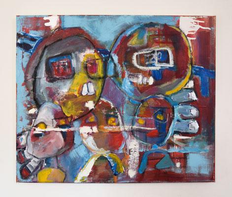 'Winterswijk' 50x60 Acryl, Lak, Olieverf, Pastelkrijt en Oliepastel op canvas