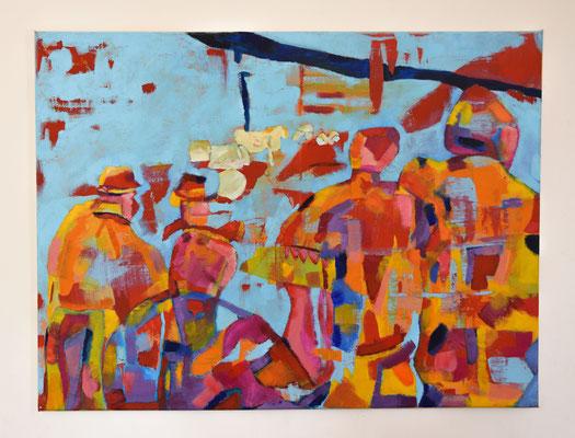 60x80 Acryl op canvas