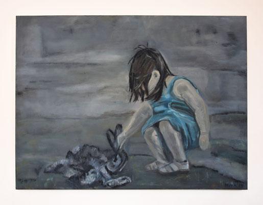 'Nina' 60x80 Olieverf op canvas