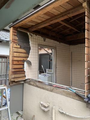 浴室 サッシ工事 出窓改修