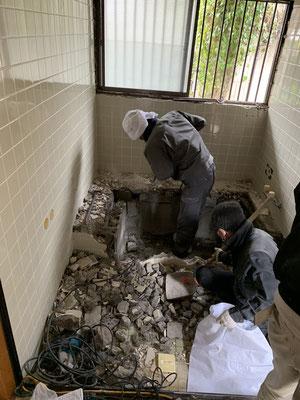 在来浴室 解体