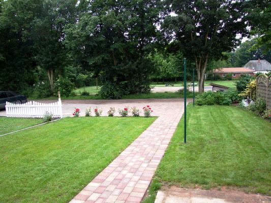 Der Garten mit tollem Blick in den Stadtpark