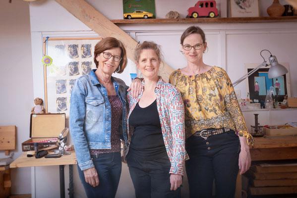 Das Hamburger Kindertheater Ensemble kirschkern Compes & Co. im Probenraum