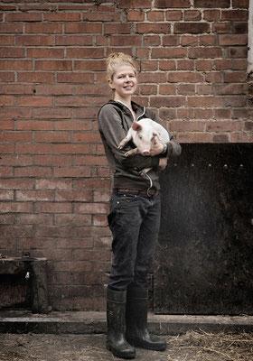 Maike Sass, Schweinebauerin