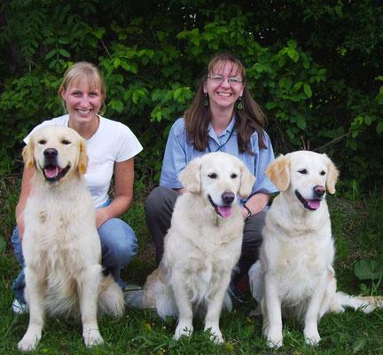 Familientreffen 2006 bei der IHA Salzburg: Deman mit seiner Mama Janis und Halbschwester Summer
