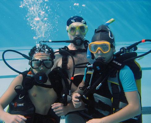 Gwendoline, Yanis et Bernard
