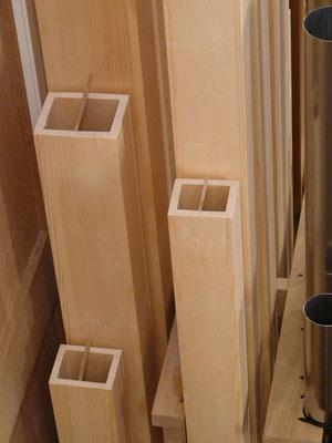 Stimmhilfen für Holzprincipal 8' und Dolce 8' (C-H Holz)