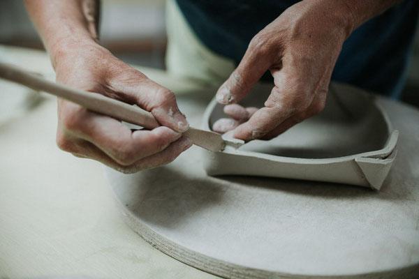 Aufbautechnik,Toepferkurs de luxe, Keramik Auf der Spek