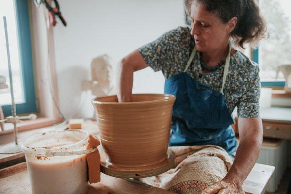 Toepferkurs de luxe, Keramik Auf der Spek, Katharina Heusinger