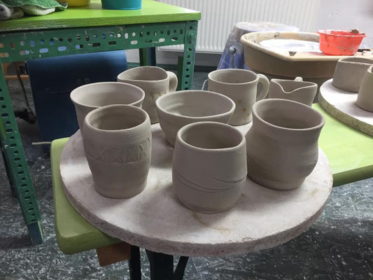 Toepferkurs auf der Toepferscheibe, Keramik Auf der Spek