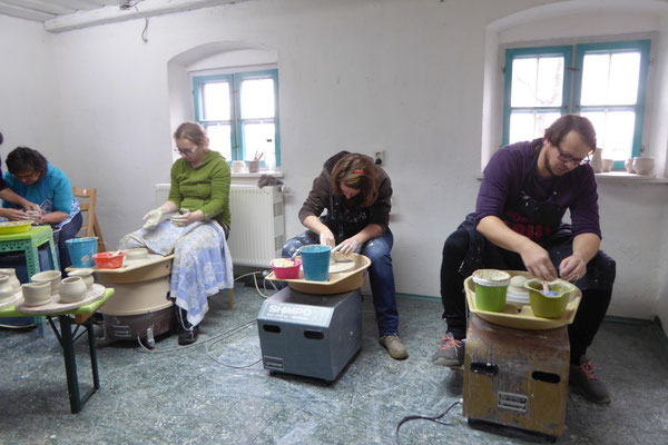 Toepferkurs, Keramik Auf der Spek