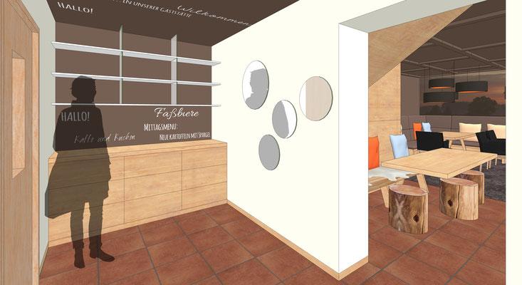 Einrichtung Gaststätte - Eingangs- und Servicebereich
