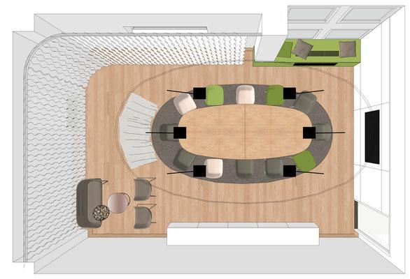 Grundriss Konferenzraum - Variante 2