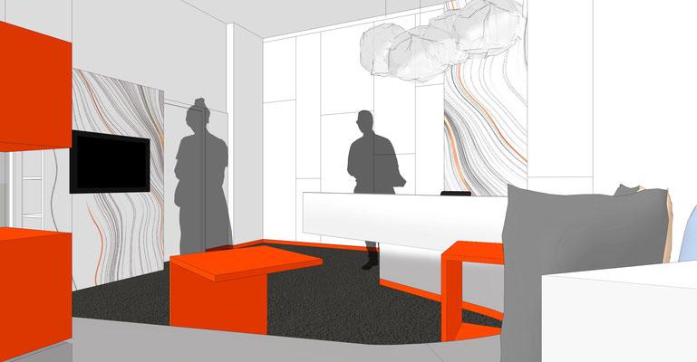 """Hörladen """"Hörpunkt"""" - Gestaltung von Wand- und Möbeloberflächen"""