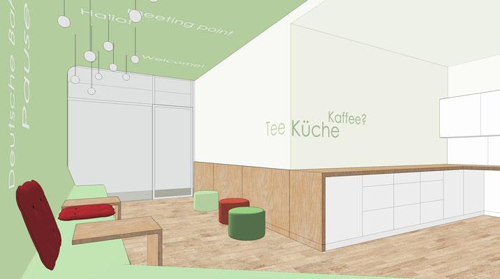 Deutsche Bahn Wettbewerb - Meeting Point OG 2 (Akzentfarbe kupfergrün)